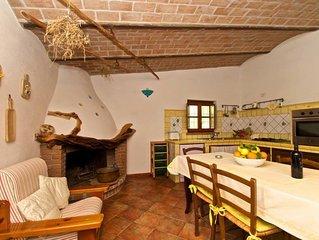 Casa con oliveto , in stile rustico