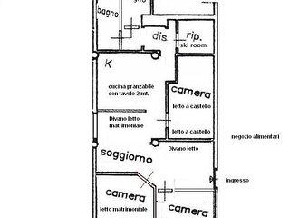 Appartamento 90 mq. 8-12 posti letto sulle piste da sci a Cervinia