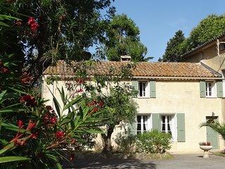 La Noria, maison vigneronne climatisee dans un environnement calme et arbore