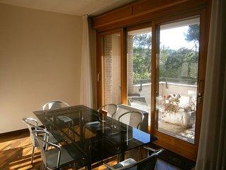 Appartamento + bicici in Villino con ampia vista parco a 1300 metri dal mare