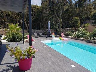 Villa piscine privée, Bonifacio proximité port de plaisance