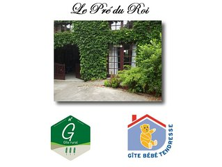 Gite: 'Le pre du Roi' .3 epis .Label bebe tendresse.Calme et verdoyant.