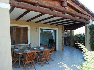 Casa vacanza al centro di Villasimius in zona residenziale - terrazza vista mare