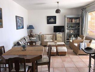 Très bel appartement avec jardin vue mer,residence avec piscine