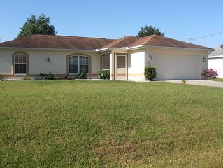 Vacation rental in North Port , 3 bedroom with pool near warm mineral springs