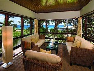 Exclusiv gelegenes Ferienhaus mit eigenem Strandzugang und Garten