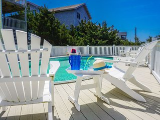 Semi Oceanfront 5 bed in the heart of Avon w/ heated pool