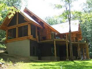 One of a Kind Log Home Tucked Away in the Woods!