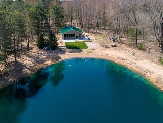 In the Woods: 2 BR Cabin in Manistee Nat. Forest w/ Private Pond! (Sleeps 7)