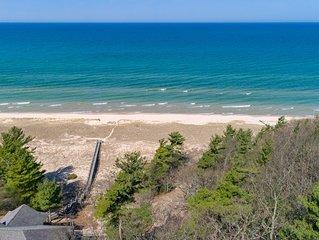 Spacious Cabin w/ Lake Michigan Views & Private Beach Access!