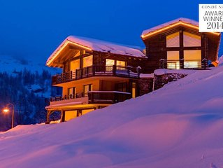 CHALET GRACE - CATERED 5 BEDROOM SKI CHALET - STAFF INCLUDED - Matterhorn Views