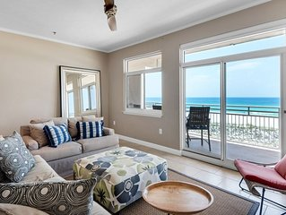 Seahorse unit D. Gulf Front 3 bedroom/2 bath townhouse.Free WiFi. 2 balconies