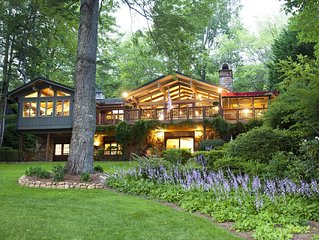Your Blue Ridge Vacation Awaits in this Luxurious Lake-Front Home.