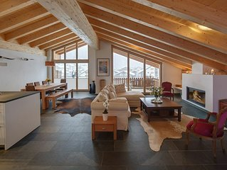 CHALET ZORA - Luxury  3 Bedroom Penthouse with Balcony and Matterhorn Views