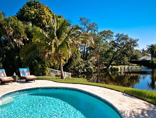 Lakeside Retreat! Lakefront Living in Northwest Bradenton w/ Saltwater Pool