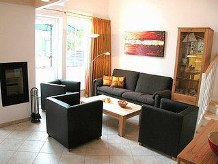 Luxusstrandhaus mit Sauna, Whirlpool, Fußbodenheizung und Kamin