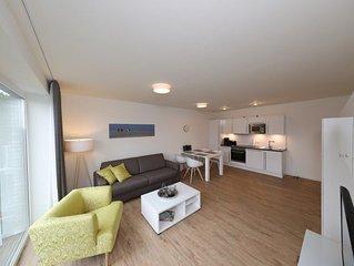 Moderne, neu erbaute Ferienwohnung. Nur wenige Meter zum Strand