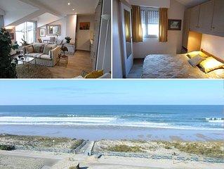 Appartement classé 3* vue mer, 2 chambres, dernier étage, 4 personnes à Lacanau