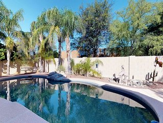 Classic, dog-friendly home w/ landscaped backyard, private pool, hot tub!