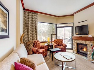 Ski-in / ski-out condo w/ private patio, shared pool, & other resort amenities