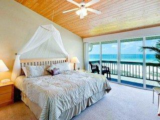 Beachfront condo w/ two decks, Gulf views & shared pool - walk to the trolley!