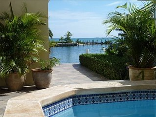 Luxury home with pool and 50' of canal front deep water dockage.