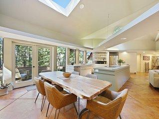 Architectural wonder w/ redwood views, shared pools/hot tub!