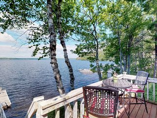 Historic lakefront lodge w/ dock, decks, firepit & access to beaches/Mt. Kineo!