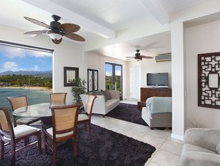 OceanFront 2 bedroom suite with AC on the Kalapaki Cliff!