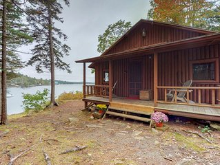 NEW LISTING! Oceanfront cabin w/ ocean view, fireplace & private dock - dogs OK!