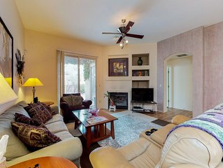 Professionally decorated townhome with a shared pool!