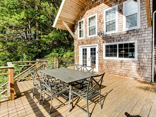 Two-level lakeside home w/ outdoor kitchen and stunning views *Boat access only*