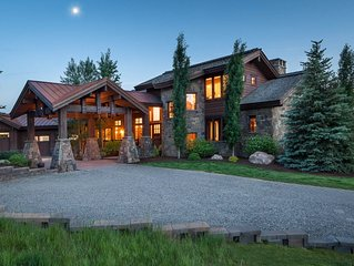 Enjoy Fall in Jackson Hole at this Bold, Private Home in Horsethief Canyon!