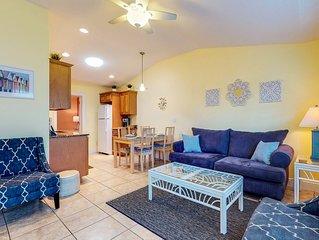 Duplex villa w/ shared heated pool & patio - one block to the beach!