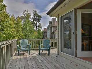 Slopeside townhome w/ deck, direct trail access & shared hot tub/pool!