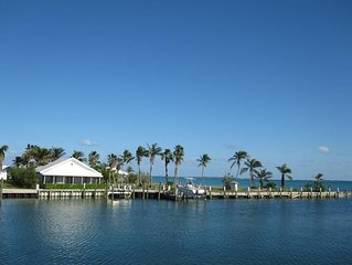 Canal front home with fantastic Sea of Abaco views.