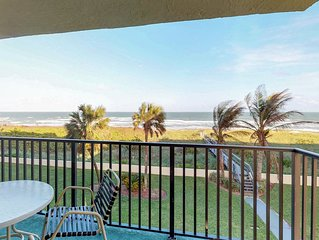 Peaceful oceanfront condo w/ shared pool moments from beach, pier, & more!