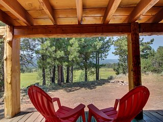 Secluded mountain view family cabin w/ deck, firepit, gas fireplace & more!