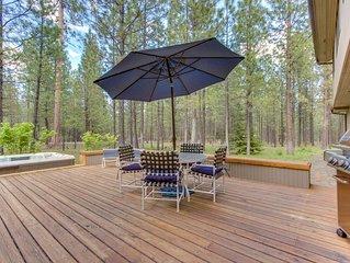 Luxurious & dog-friendly home w/ private hot tub & shared pools, sauna, tennis!