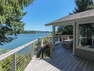 Lakefront home w/ private dock & multi-level deck - near beaches/dunes!
