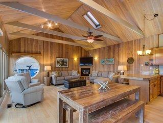 Family-friendly house near beach with private hot tub & ocean views - dogs ok!