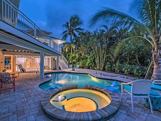 Waterfront home near beaches with private, heated pool, spa, and more!