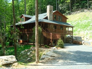 Little Creek Lodge - Creek side Valle Crucis cabin with Hot Tub.. 10 mins to Boo