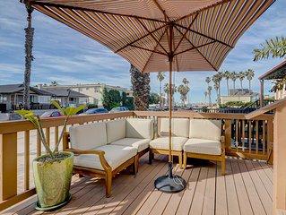 Chic & cozy home w/ ocean views - walk to the beach & downtown Ocean Beach!