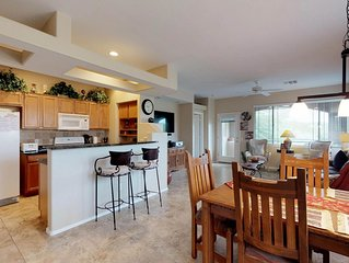 Mountain views at this condo with shared pool and hot tub!