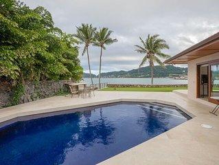 Springer Estate - Premium home overlooking Kaneohe Bay, AC, Pool