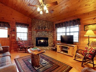 Cabin in the woods w/ mountain views, decks, outdoor firepit, paved road access!