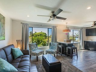 Kahanalu #5 FULLY Renovated *** WOW***  STEPS to POIPU beach w/ great AC!