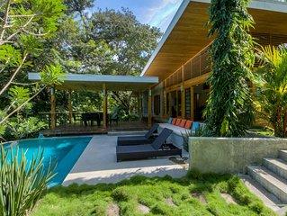 Tropical Modern Home w/pool steps to beach & surf