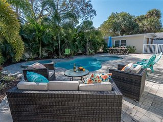 Gorgeous Pool and September Discounts at Beach Hideaway: 3 BR / 2 BA